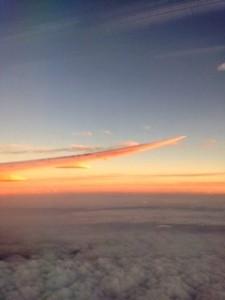 飛行機(夕焼け)