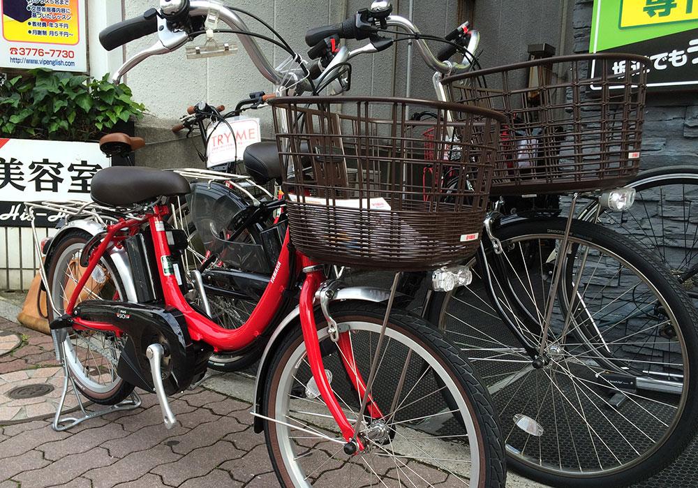 電動アシスト自転車、中高年のお客様にも人気です!