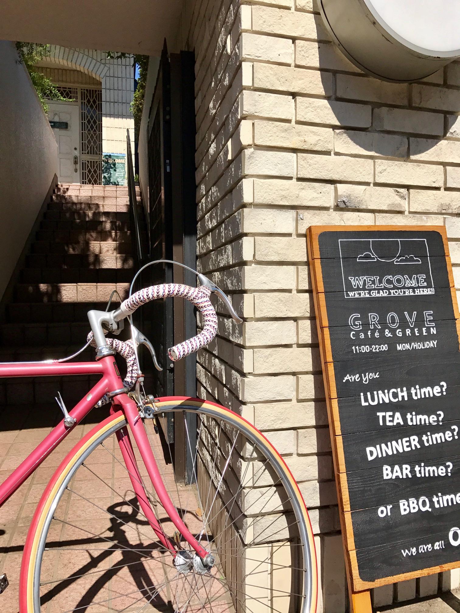 カフェグローブと自転車
