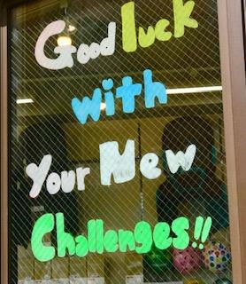 【大井町店】Good Luck With Your New Challenges!