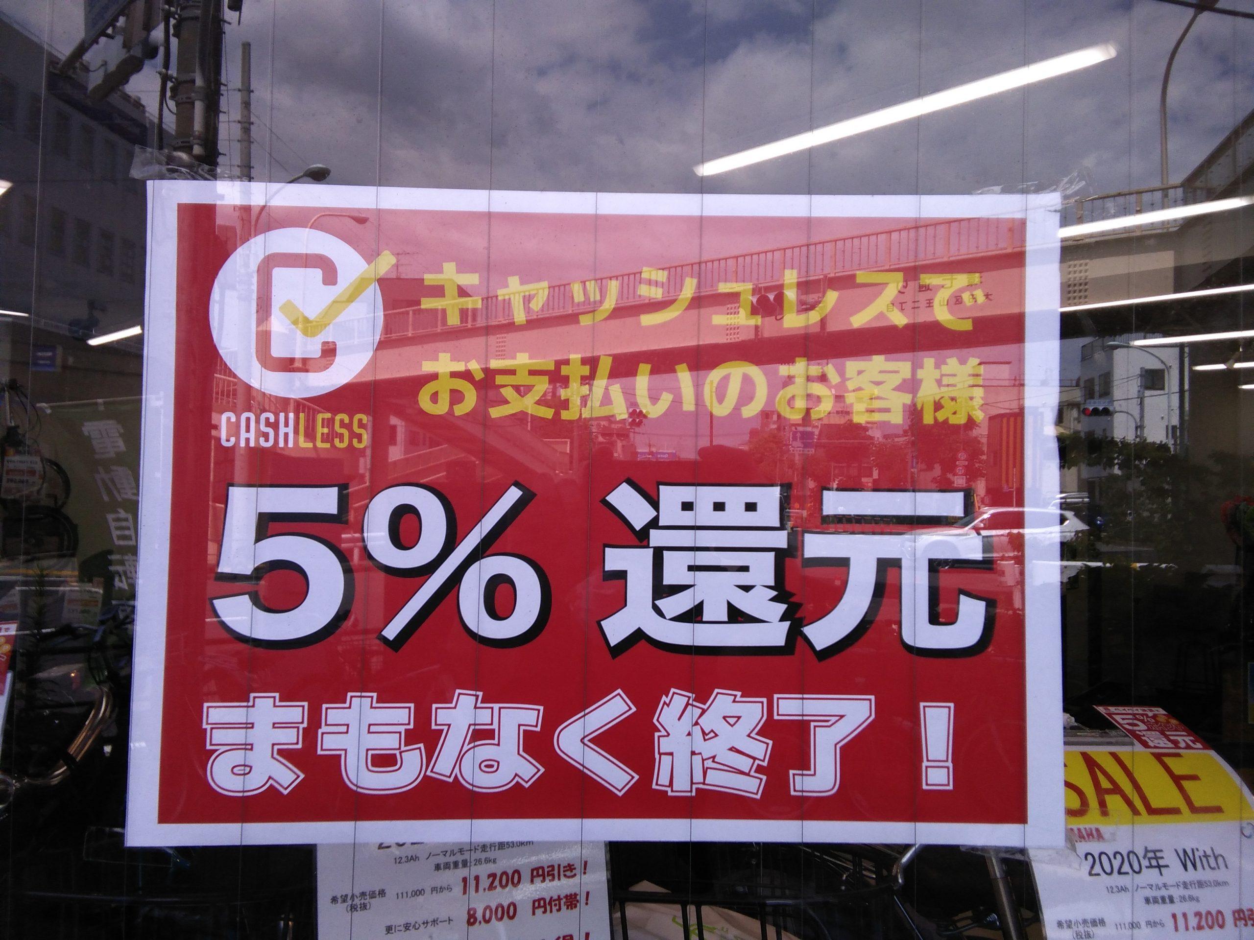 【馬込銀座店】キャッシュレス還元最終日も休まず営業いたします!!