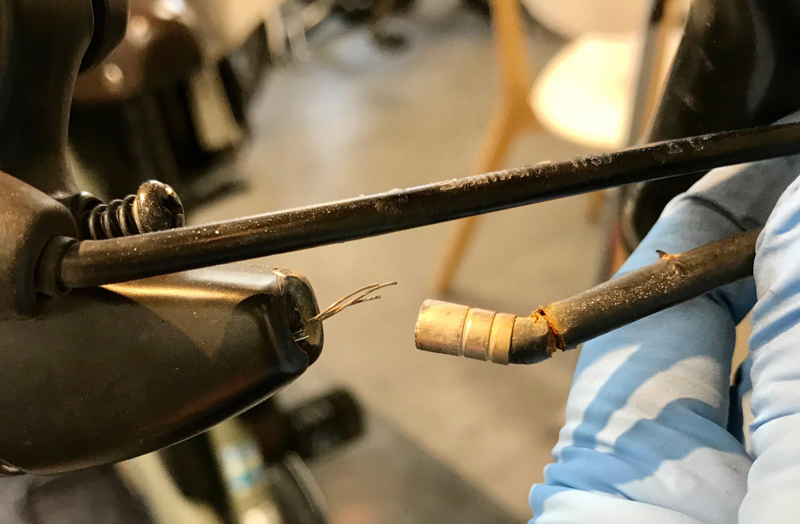 【電動自転車修理事例】フロントブレーキワイヤー交換